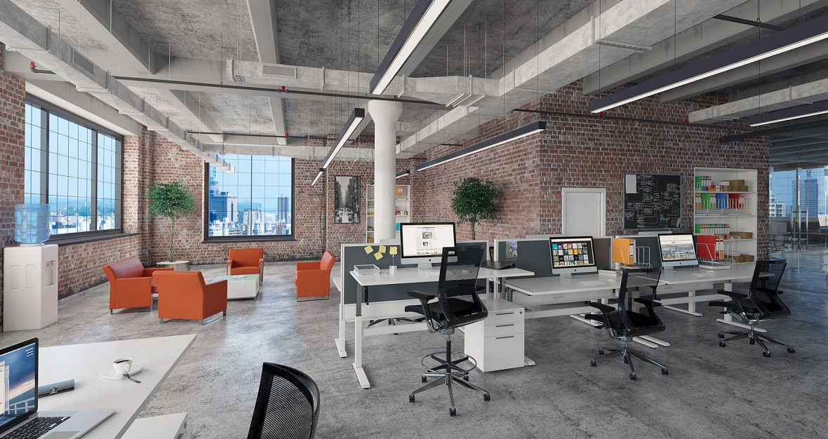 Image of office fitout under construction